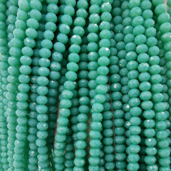 150 pcs x 3mm Glass Faceted Rondelle Turquoise 112